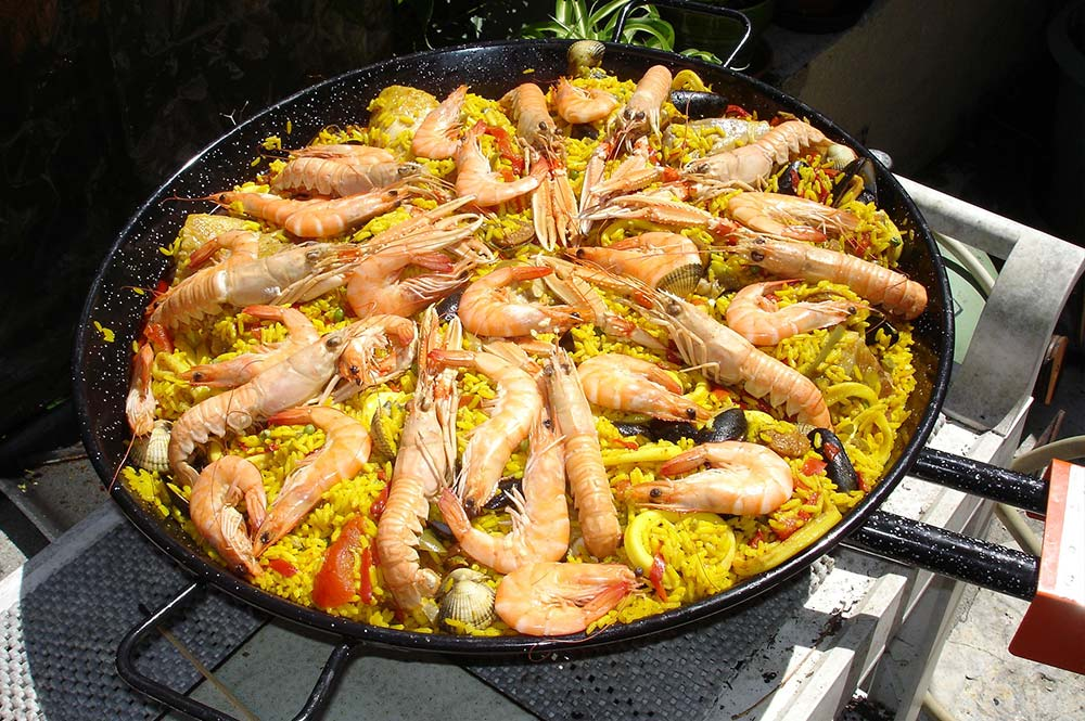 Paella pan, Masterclass, Edible Bike Tours, El Jaral, El Gastor, Spain