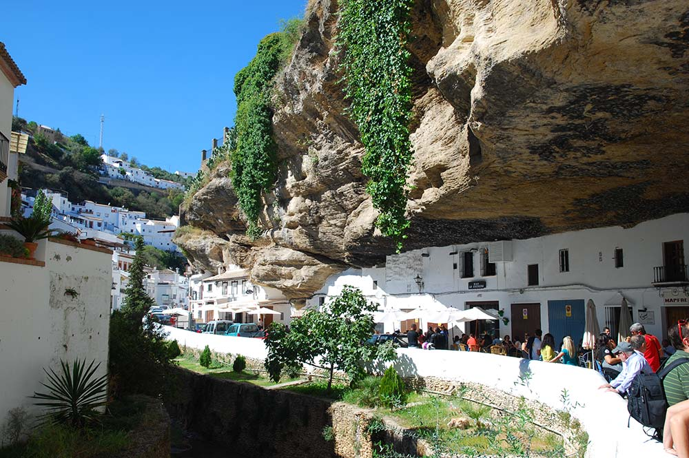 Setenil Village, Main Street, Built Into The Cliff, Taken By Edible Bike Tours, Cadiz, Spain