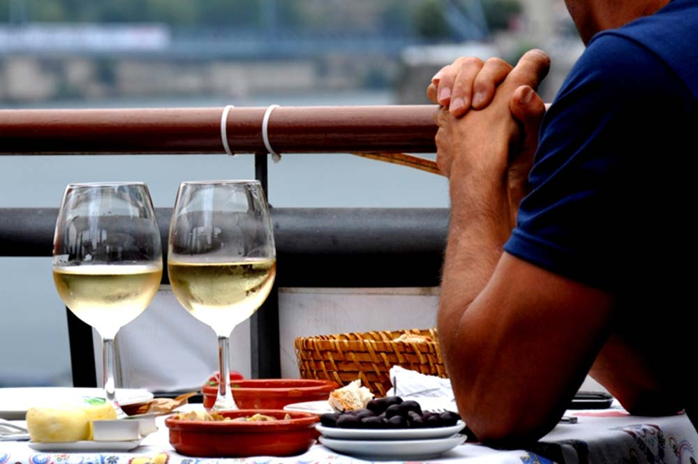 Having a break from ebikes, olives, wine and cheese, tapas, Edible Bike Tours Spain