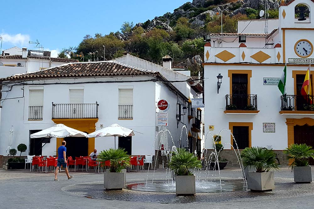Fountain in the main square of Montejaque, Edible Bike Tours, Spain