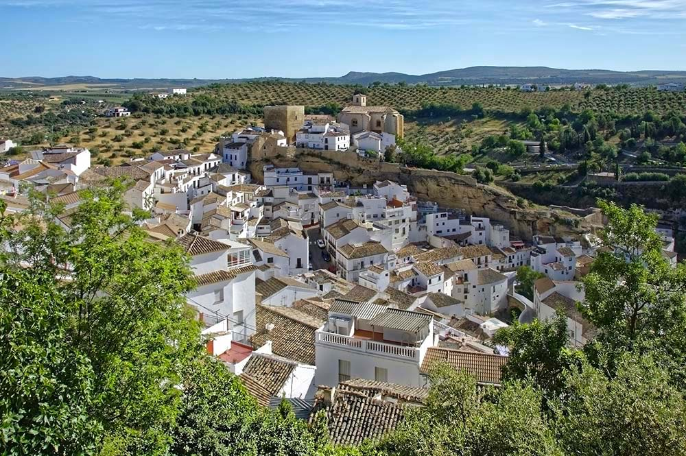 White village of Setenil from above, Sensational Setenil, Edible Bike Tours by ebike