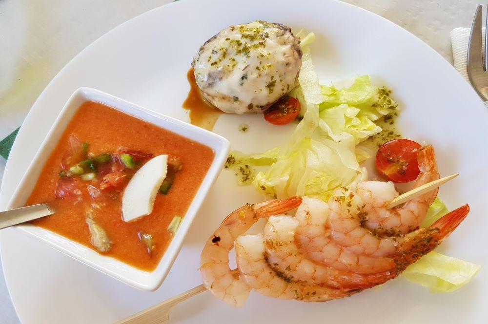 tapas,prawns,villanones,gaspacho